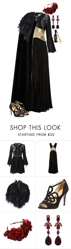 """""""Game of Thrones """"Queen in the North"""""""" by werewolf-gurl ❤ liked on Polyvore featuring Marchesa, Phase Eight, Kate Spade and Oscar de la Renta"""