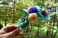 Martinuska / Zelená Handmade Headbands, Crown, Jewelry, Corona, Jewlery, Jewerly, Schmuck, Jewels, Jewelery