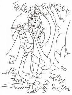 Shri Krishna- Janmashtami- Coloring -Printable- Pages- For- Kid-_38