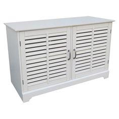 Shuttered Door TV Stand - White - Threshold
