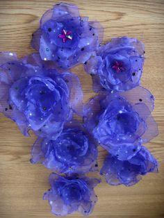 Organza flowers https://www.facebook.com/adelheidworks