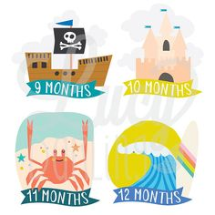 With a unique and stylish design, our little sea captain cut out monthly baby stickers are the perfect way for mommy to share her excitement. Start making darling moments in just three steps: Just PEEL, STICK onto the baby's clothing and CLICK with your c Cute Toddler Boy Clothes, Toddler Boy Outfits, Lion Hat, Desk Stationery, Baby Month Stickers, Sea Captain, Baby Growth, Little Unicorn, Cute Toddlers