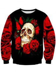 SHARE & Get it FREE | Long Sleeve Rose Skull 3D Print Crew Neck SweatshirtFor Fashion Lovers only:80,000+ Items • New Arrivals Daily • Affordable Casual to Chic for Every Occasion Join Sammydress: Get YOUR $50 NOW!