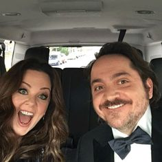"""Melissa McCarthy & Ben Falcone from 2016 Golden Globes: Instagrams & Twitpics  """"Heading to the @goldenglobes with the lovely @melissamccarthy - we're single and ready to mingle! Wait..."""""""