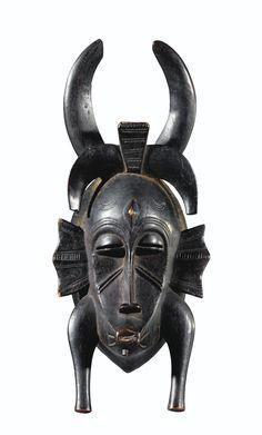 Senufo Kpelie Mask, Ivory Coast http://www.imodara.com/item/ivory-coast-senufo-kpelie-ancestor-mask/