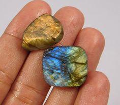 42 Cts. 100% Natural Rainbow Flashy Labradorite Druzy Lot Cab Gemstone NI159 #Handmade
