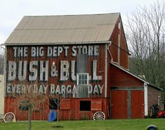 This barn is located in the Amish (Pennsylvania Dutch) region near Lancaster,Pennsylvania. As a kid..I vividly recall seeing similar 'advertising' on the side of barns whenever we went on day trips from my home in Philadelphia.