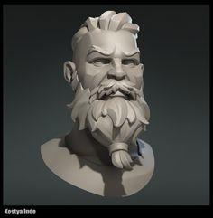 My practice in sculpting head and hair 3d Model Character, Character Modeling, Character Concept, Character Art, Concept Art, 3d Modeling, 3d Portrait, Face Sketch, Modelos 3d