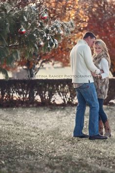 Couple Christmas pictures in snow. www.facebook.com/c.ramseyphotography