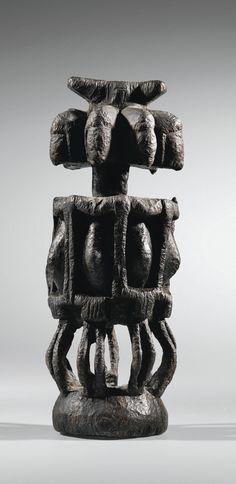 Statue, Dogon, Mali   lot   Sotheby's Statues, Rose Croix, African Sculptures, African Artists, African Masks, Ocean Art, Tribal Art, Ancient Art, Art Market
