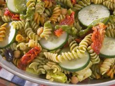 Pasta Salad with Basil Vinaigrette Recipe | Nancy Fuller | Food Network