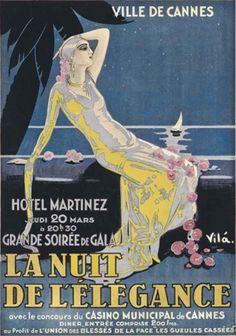 By Emilio Vila (1887-1967), 1928, La nuit de l'élégance (The night of elegance), Cannes.
