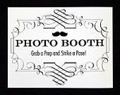 Custom Photo Booth Sign. Photo Booth Prop. Photobooth Prop. Photo Booth. Wedding Decor. Wedding Photos, Wedding Reception. $15.00, via Etsy.