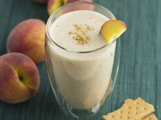 Did you know Silk® has a ton of Smoothie Solutions, like thisPeach Cobbler Smoothie?