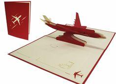 Hochwertige Pop Up Karte Flugzeug - Perfekt als Geschenk für Piloten Pop Up 3d, Pop Up Karten, Airplanes, Cards, Image, Pilots, Gift Cards, Holiday, Aircraft