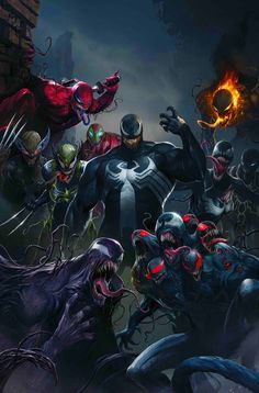"sent me a link to Bleeding Cool article about Marvel's new project. First things first, because it has to be said: Okay, now seriously: ""Edge Of Venomverse is a new mini-series spinning out of the Venom series, with a Marvel. Marvel Dc Comics, Marvel Venom, Marvel Villains, Marvel Heroes, Captain Marvel, Marvel Avengers, Avengers Alliance, Captain America, Comic Movies"