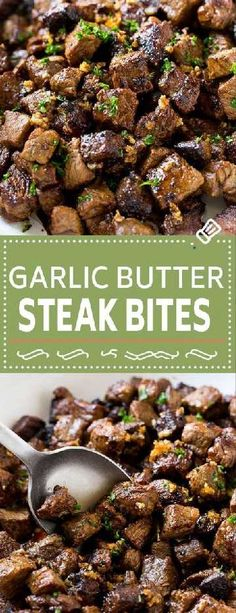 These seared steak bites are cubes of sirloin steak cooked to perfection in a garlic butter sauce. An easy meal or party snack that's ready in just minutes!