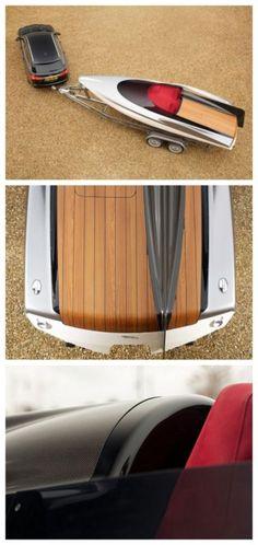 Jaguar Concept Speedboat - need a speedboat to match your ride? Look no further... #spon #luxury