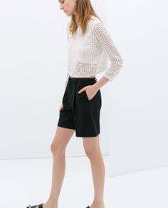 Zara Woman CUT WORK CROP TOP