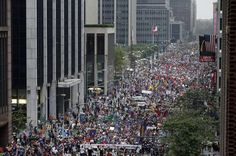 Ignoring something this big is a form of denial: Climate March gets zero coverage in mainstream TV news: CNN, ABC, CBS, you name it.