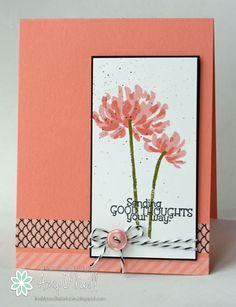 handcrafted card ...Too Kind ... clean lines ... elegant  look ... luv how this washi tape allows the card color to show throught ... Stampin' Up!