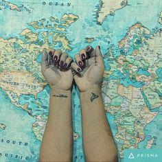 Maps adiction #tatto #maktub #losahoras