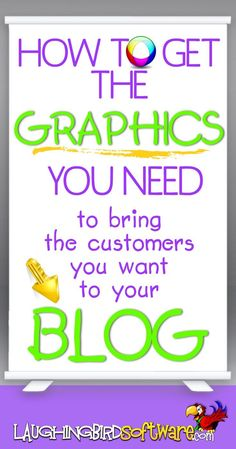 Get the blog graphics you need... to bring customers to your blog. Designing graphics can be easy and fun for bloggers, small business owners and graphic designers.
