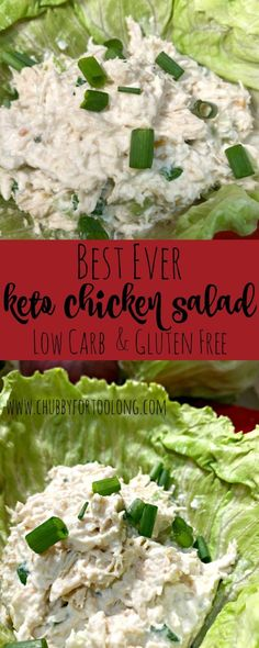 Low Carb Chicken Salad Recipe! Great recipe if you are eating low carb or Keto! Super easy and only 4 total carbs (3 net carbs) per serving!