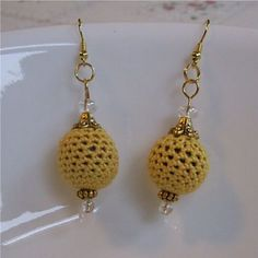 free bead earrings crochet pattern
