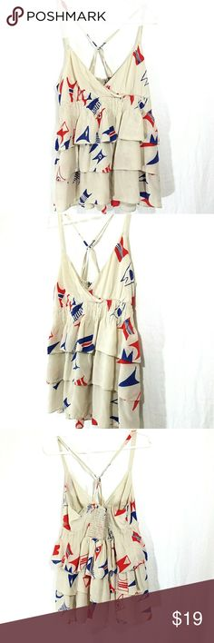 🍒Anthropologie we love vera summer top 10🍒 Beautiful anthropologie silk top. Size 10. EXCELLENT condition.  Smoke free home Anthropologie Tops