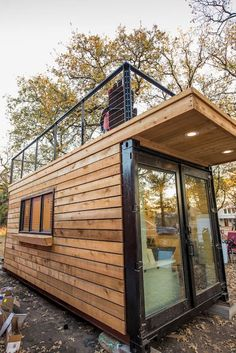 Elegant Container Home Tiny House Near Magnolia - Tiny houses for Rent in Waco. Elegant Container Home Tiny House # 1 Near Magnolia - . Building A Container Home, Container Buildings, Container House Plans, Tiny House Cabin, Tiny House Living, Tiny House Plans, Container House Design, Tiny House Design, Tiny Houses For Rent