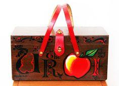 Enid Collins du Texas 1966 « Apple Box » boîte sac