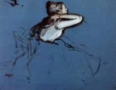 Seated Dancer, 1873, Edgar Degas