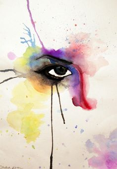 Watercolor doodle beauty is in the eye of the beholder