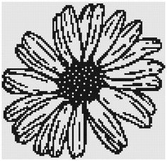 One Color Daisy a Counted Cross Stitch by WooHooCrossStitch