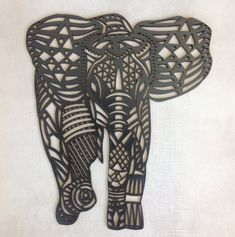 Let this fancy elephant grace your wall! The Elephant is A3 size and is laser cut from 3mm MDF enabling it to be hung by damage free 3M command strips. Perfect for rental homes! The elephant is able to be purchased in black, white or unpainted to decorate yourself.