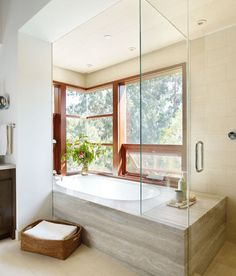 drop in tub.  modern bathroom by Rockefeller Partners Architects