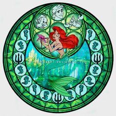 Ariel stain glass