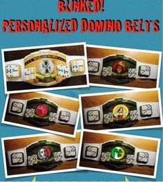 Personalized domino belt of the month club!! Save $300!!
