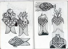 Sketch for animated fishes
