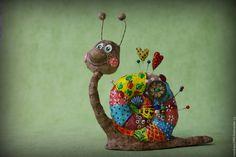 Купить Улитка №1 - комбинированный, улитка, улиточка, авторская ручная работа, авторская игрушка