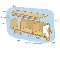 These are the parts you'll need to build a shelf 39 inches wide by 17¾ inches high by 10 inches deep
