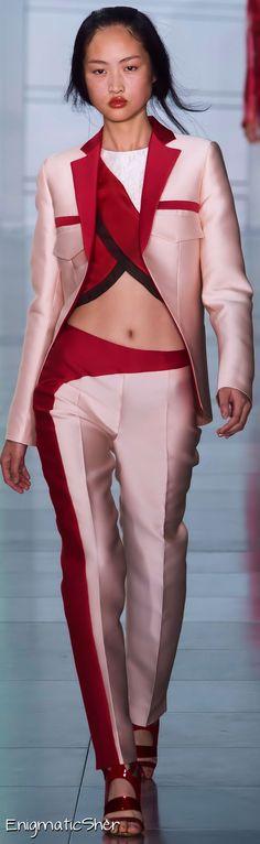 Antonio Berardi pink crop top suit fantasy fashion #UNIQUE_WOMENS_FASHION