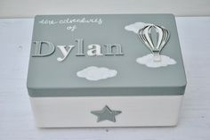 Personalised solid pine white wooden memory box this is your life 50th birthday