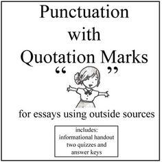 punctuation punctuating dialogue powerpoint improve   punctuation quotation marks this handout and two quizzes focus on punctuation quotation