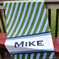 Beach Towel - Style #52091 Stripe Diagonal Print