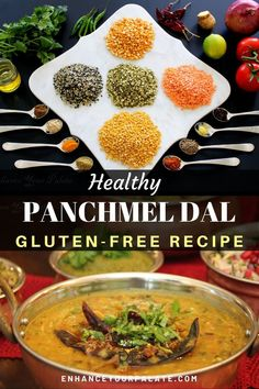 Instant Pot recipe for Rajasthani Panchmel Dal, using five most common lentils from Indian kitchen pantry and infused with ginger and cloves. Vegetarian One Pot Meals, Healthy Soup Vegetarian, Vegetarian Recipes Easy, Indian Food Recipes, Whole Food Recipes, Healthy Recipes, Ethnic Recipes, Free Recipes, Healthy Food