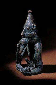Frey Figurine from Rällinge, Lunda parish, Helgarö, Södermanland Sweden- Ithyphallic bronze figurine, generally accepted to be an representation of the god Frey, early 11th century.