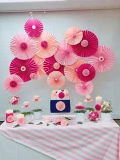 by simisomssi party styling : pan flower. by simisomssi Simple Birthday Decorations, School Decorations, Balloon Decorations, Birthday Party Decorations, Pink Birthday, 1st Birthday Girls, Ganpati Decoration Design, Chinese New Year Crafts, Paper Crafts Origami