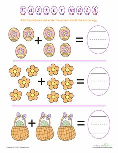 Your child will master basic math building blocks with this collection of kindergarten Easter addition and subtraction worksheets. Easter Worksheets, Free Kindergarten Worksheets, Worksheets For Kids, Math Worksheets, In Kindergarten, Math Activities, Kindergarten Addition, Easter Activities, Addition And Subtraction Worksheets